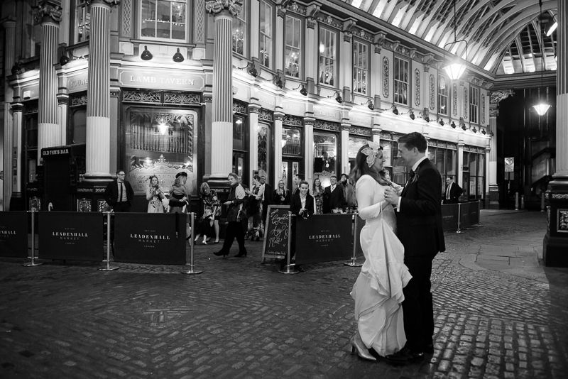 First dance in Leadenhall Market