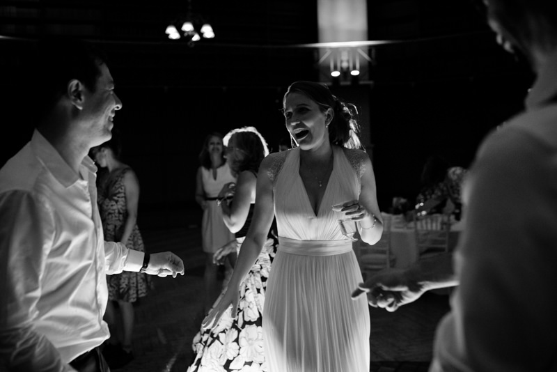 Bride on dance floor at Queen Mary University wedding