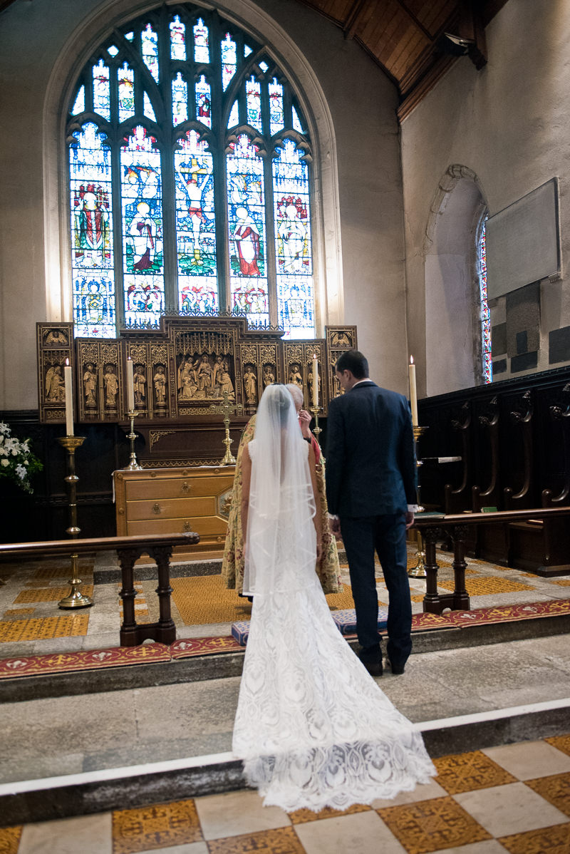 Wedding ceremony at St Mary's in Petworth