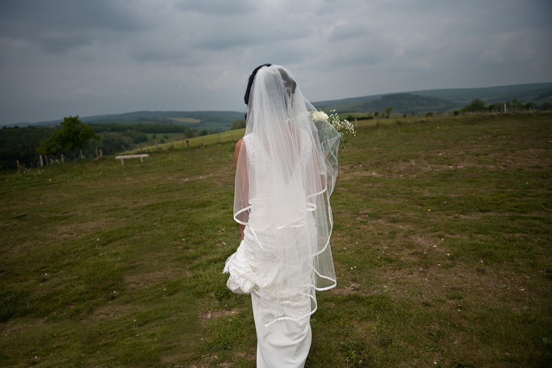 Bride in South Downs National Park