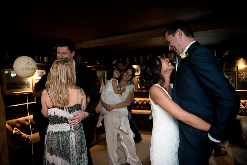 Bride and groom first dance at White Horse Chichester