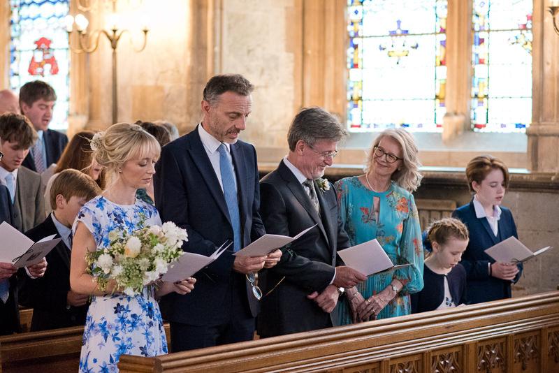 Guests at St Etheldreda wedding