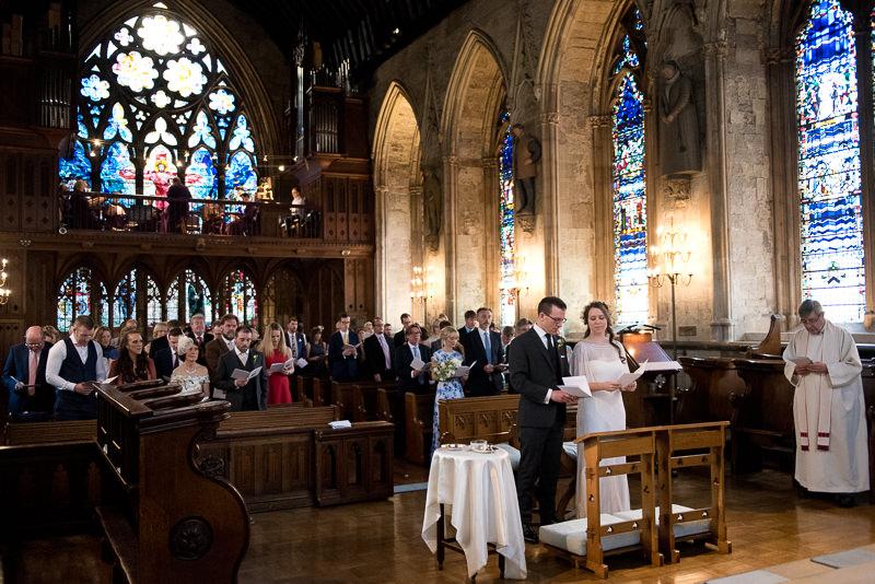 Wedding ceremony at St Etheldreda Church