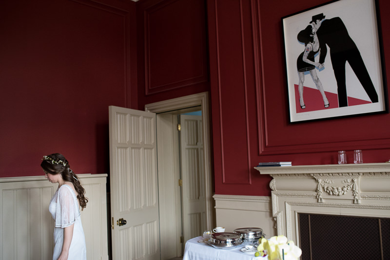 Bridal prep at St Pancras Renaissance Hotel