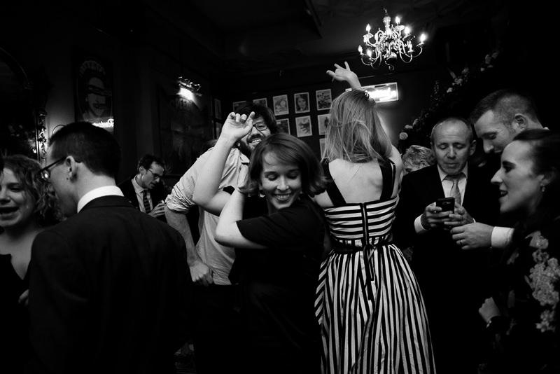 Dancefloor at London pub wedding