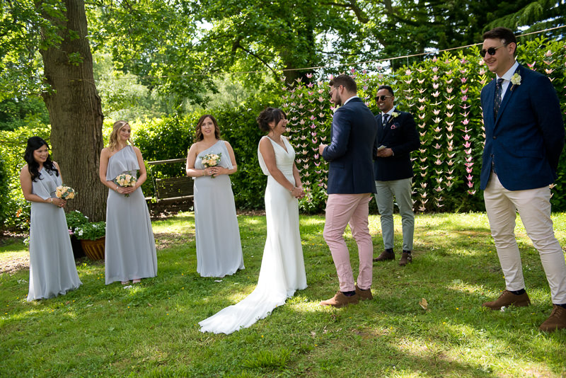 Outdoor wedding ceremony in Kent