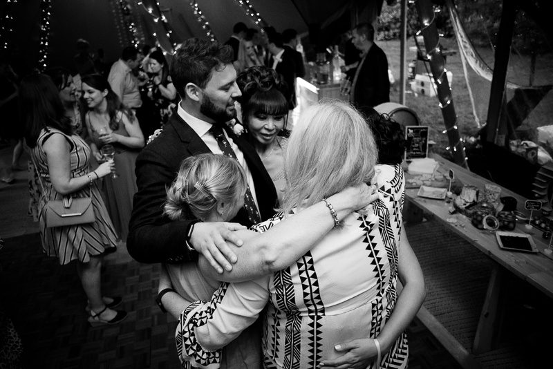 Dancefloor at Tipi wedding