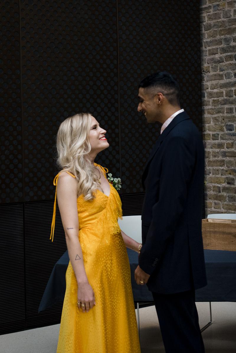 Wedding ceremony at The Atria Hackney Town Hall