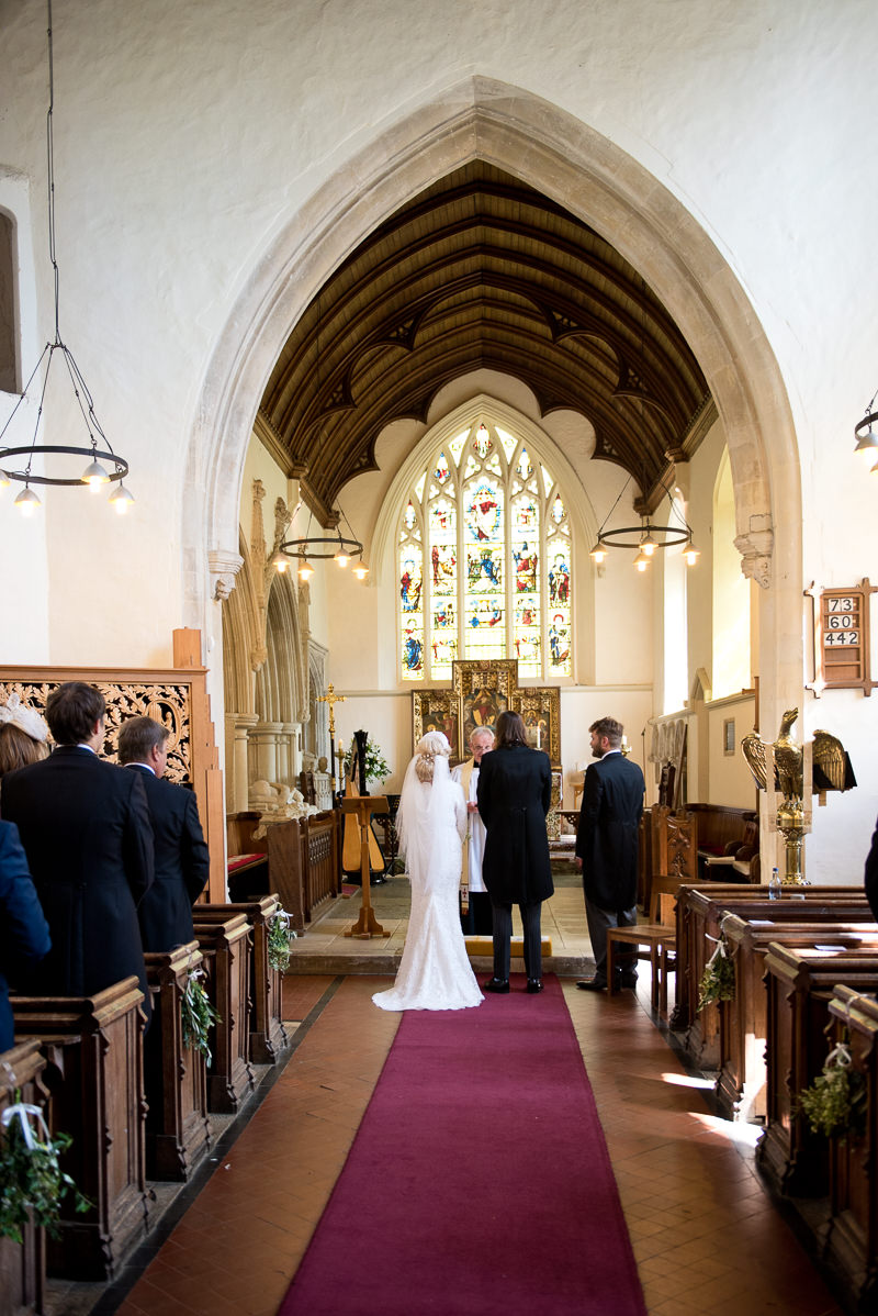 Wedding ceremony at St Peter's church