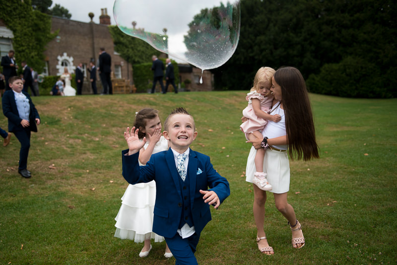 Bubbleman at Boreham House wedding