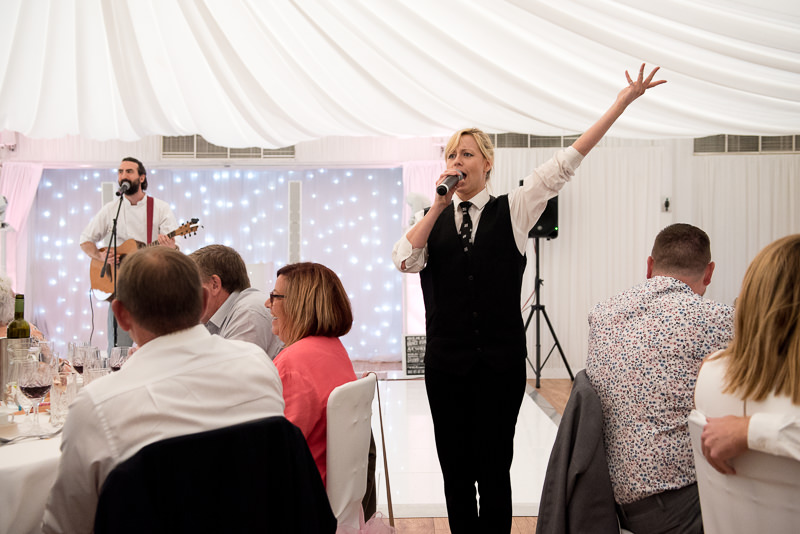 Singing Waiter by Club Mob at Boreham House wedding