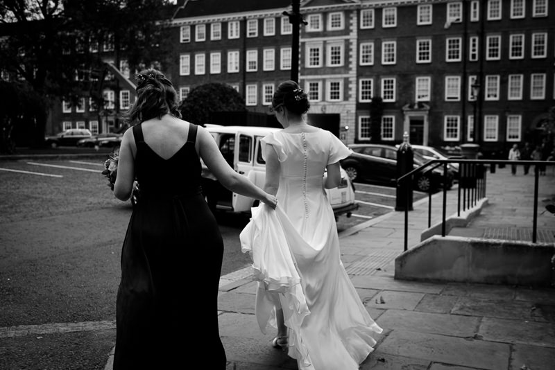 Bridal preparations at Grays Inn