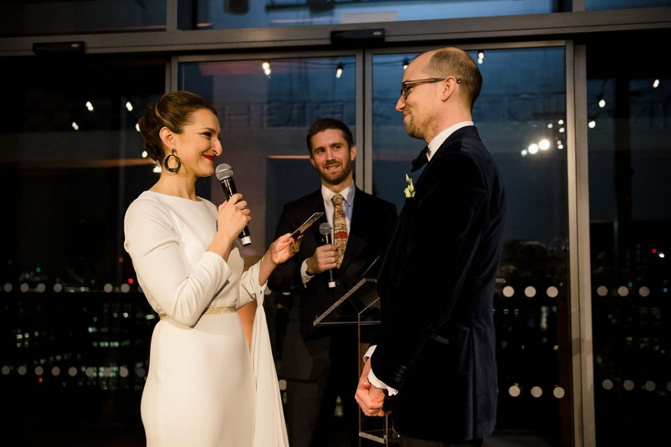 Bride and groom get married on New Years Eve in London