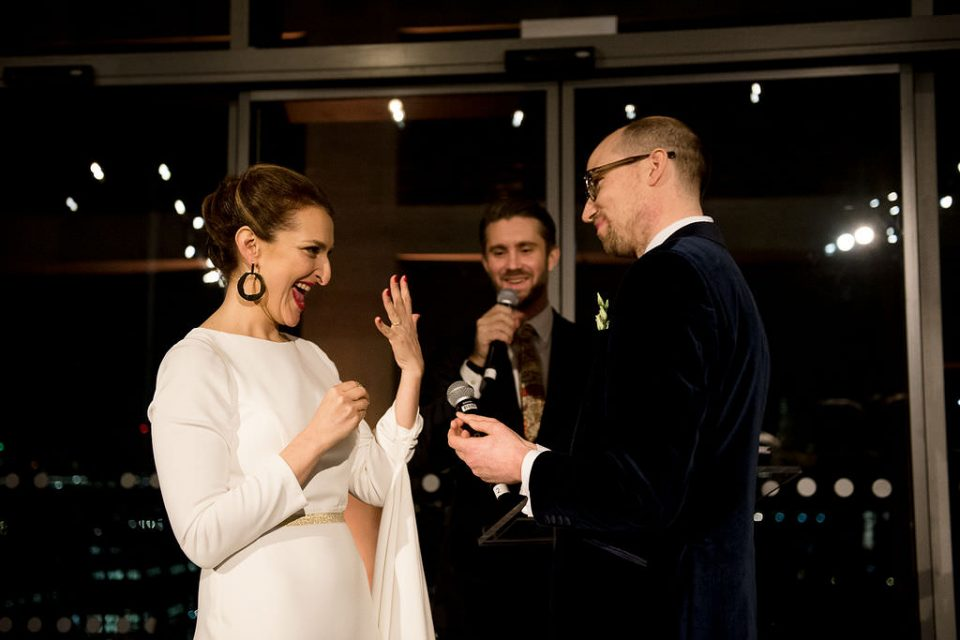 Wedding ceremony at New Years Eve in London