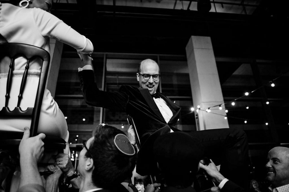 Chair dance at london New Years Eve wedding