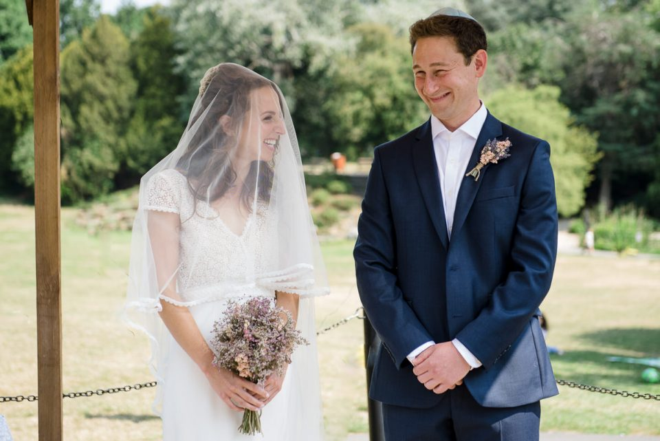 Bride and groom get married at St Stephens House and Gardens